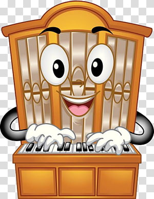 Pipe organ , A pianist on the piano PNG