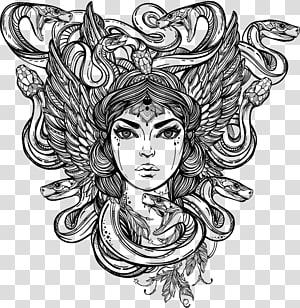 Medusa Decal Bumper sticker Greek mythology, others PNG