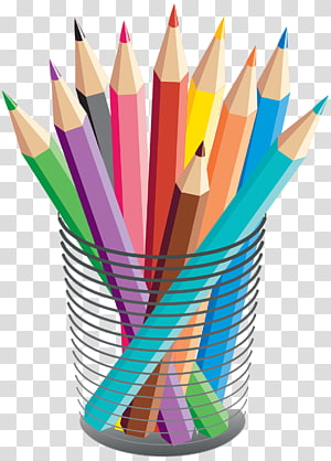 assorted color pencils , Colored pencil Drawing Crayon, stationary PNG clipart