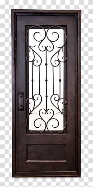 Wrought iron Window Door Steel, Ancient Door PNG clipart