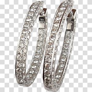 Earring Gold Charms & Pendants Diamond Jewellery, hoops PNG