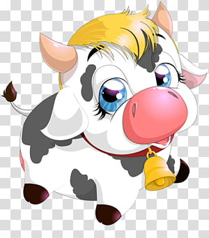 cute cow PNG clipart