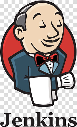 man in gray suit jacket illustration, Jenkins Logo PNG