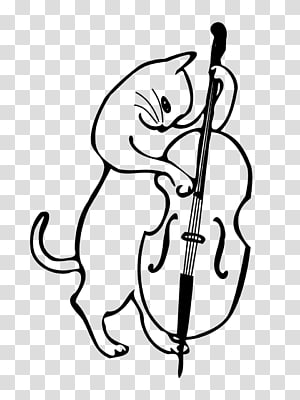 Cat Double bass Musical Instruments Jazz, Cat PNG