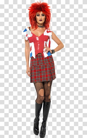 1970s 1980s Punk Rock Punk Fashion Pants Dress Png Clipart