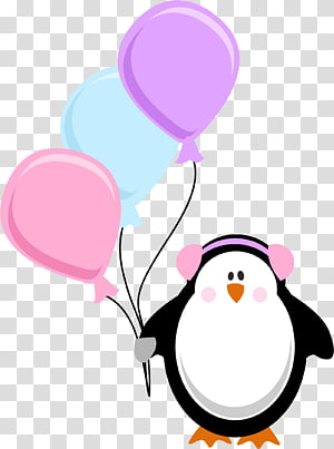 Birthday , cute penguin PNG