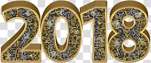 gold 2018 , , 2018 Gold Deco PNG clipart