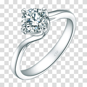 Engagement ring Chow Tai Fook Jewellery Diamond, ring PNG clipart