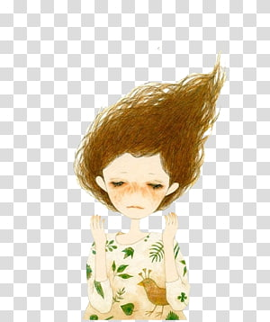 Illustrator Animation Illustration, Lonely girl PNG clipart