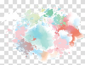 Watercolor painting Euclidean , Hand-painted watercolor background Blue Dream, teal and brown abstract painting PNG clipart