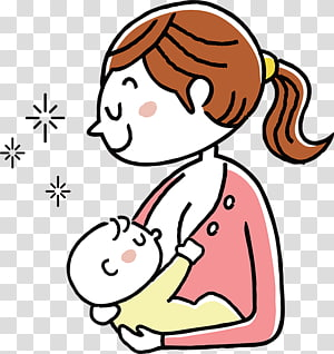 Breast milk Pregnancy Prenatal care Breastfeeding, the correct posture of baby feeding PNG clipart