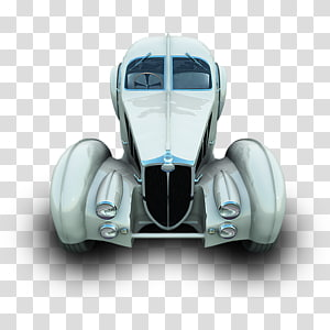 vintage white vehicle , vehicle door wheel automotive exterior compact car, Dugatti PNG clipart