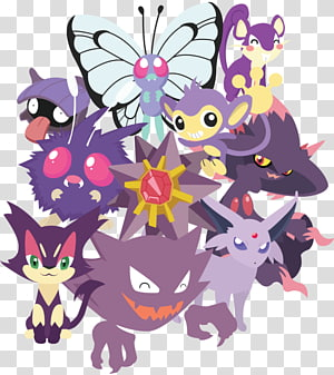 Pokémon Roselia Haunter Furret, tshirt prints PNG clipart