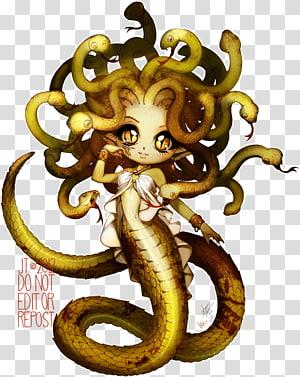 Medusa Perseus Greek mythology Poseidon Gorgon, textured PNG