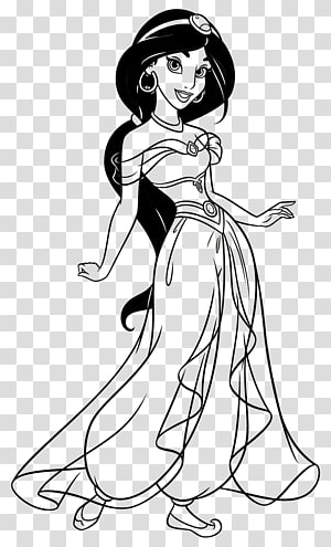 Princess Jasmine Coloring book Drawing Disney Princess The Walt Disney Company, princess jasmine PNG