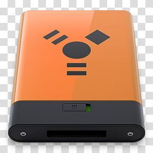 rectangular orange and black electronic device, electronic device gadget multimedia electronics accessory, Firewire PNG clipart