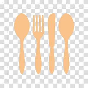 Knife Wooden spoon Fork, FIG cutlery knife and fork spoon PNG clipart