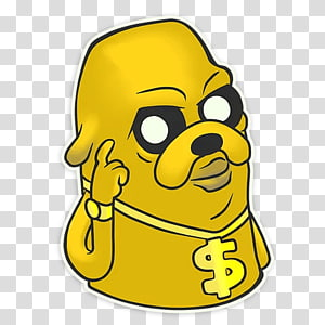Jake the Dog Sticker Telegram Text, others PNG clipart