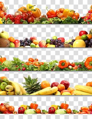 assorted fruits and vegetables collage, Fruit Vegetable Nutrition, vegetables PNG