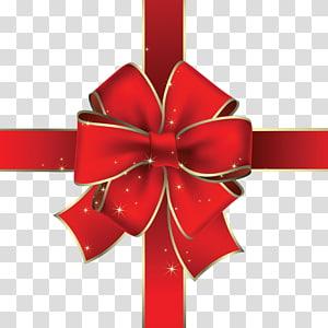 Gift Ribbon , red gift ribbon PNG