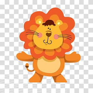 Cartoon Drawing Animal , lion PNG