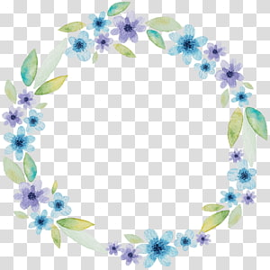 fresh and elegant watercolor wreath PNG clipart