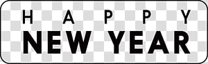 New Years Day New Years Eve Party Wish, Happy New Year word PNG clipart