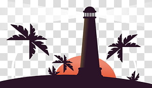 Lighthouse Euclidean , The lighthouse on the island PNG