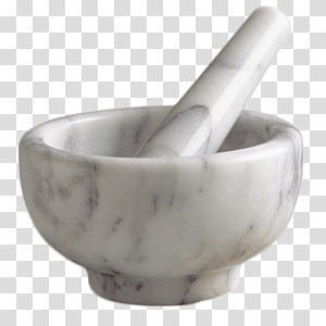 round white mortar and pestle, Marlbe Pestle and Mortar PNG