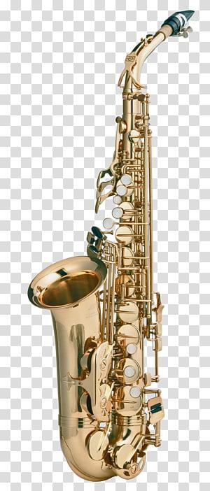 brass-colored saxophone , Tenor saxophone , Saxophone PNG