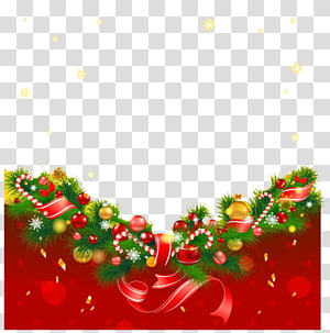 christmas flower bottom buckle creative hd free PNG