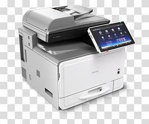 Ricoh copier Multi-function printer Laser printing, printer PNG