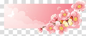 Flower Banner , flower banner PNG clipart
