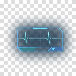 heart rate illustration, Technology Multimedia Font, hologram PNG
