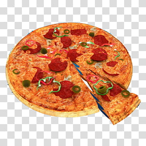 Sicilian pizza European cuisine Fast food Junk food, Pizza PNG clipart