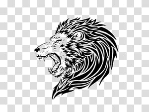 Lion Sleeve tattoo, Lions Head PNG clipart