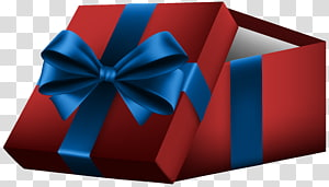 Gift Box Ribbon , Open Gift Box with Red Bow PNG clipart
