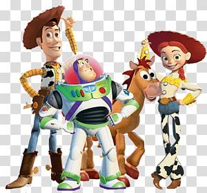 Jessie Buzz Lightyear Sheriff Woody Toy Story , Toy Story Characters File, Toys Story characters illustration PNG clipart