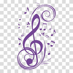 Musical note Wall decal Clave de sol Clef, musical note PNG