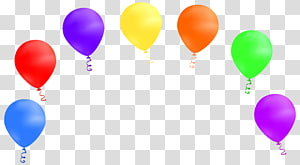 assorted-color balloon lot illustration, Birthday Gift Party Anniversary Greeting card, Balloons PNG clipart