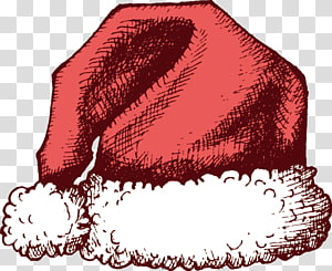 Santa Claus Christmas Hat, Hand-painted Christmas hats PNG