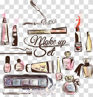 makeup set illustration, Cosmetics Fashion Make-up artist Lipstick, Makeup Tools PNG clipart