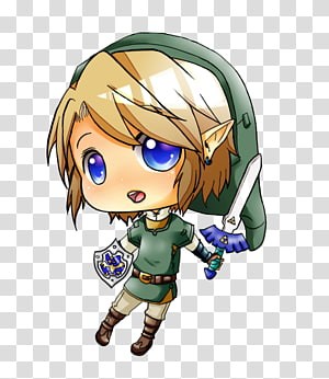 Link The Legend of Zelda: Breath of the Wild Chibi Drawing , the legend of zelda PNG