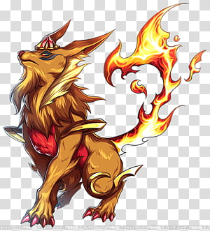 Brave Frontier Carbuncle Dragon Mythology Legendary creature, Mythical Creatures PNG