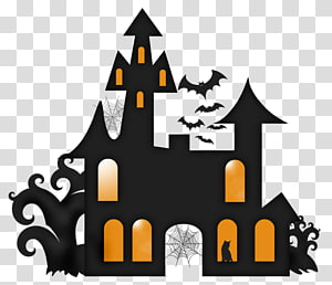 Haunted house Silhouette , house PNG clipart