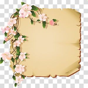 vintage card design flowers frame s PNG