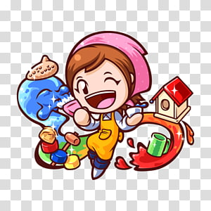 Cooking Mama 5: Bon Appétit! Babysitting Mama Gardening Mama Wii, cooking PNG clipart