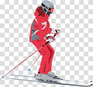 Alpine skiing Ski & Snowboard Helmets Skier Ski Bindings Ski cross, skiing PNG