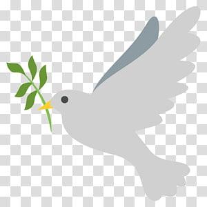 white bird illustration, Emoji Doves as symbols Sticker Text messaging Peace symbols, peace dove PNG