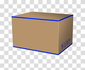 Box Rectangle Carton, Warehouse cartons PNG clipart